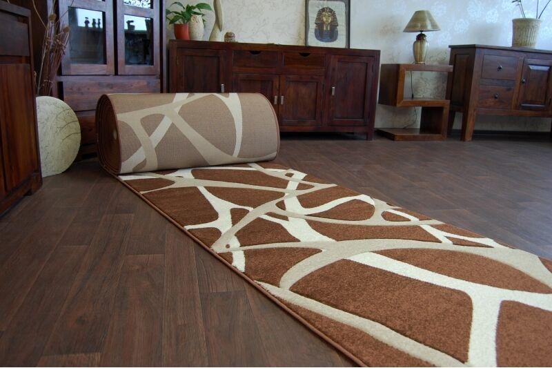 RUNNER Tappetini, Tappetini, Tappetini, pilly 7777 Marroneee, moderna, Scale Larghezza 70 cm - 120 cm extra lunga 0c5e53