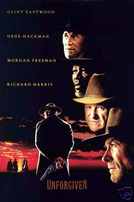 Unforgiven Clint Eastwood movie poster print