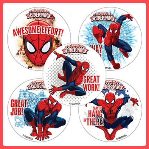 Spider-Man Stickers x 5 Motivational Stickers Teachers Awards//Favours-Spiderman