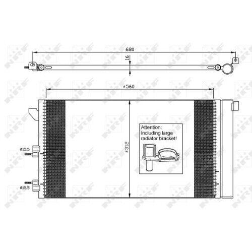 aire acondicionado nrf 35921 Easy fit adecuado para Fiat 1 condensador