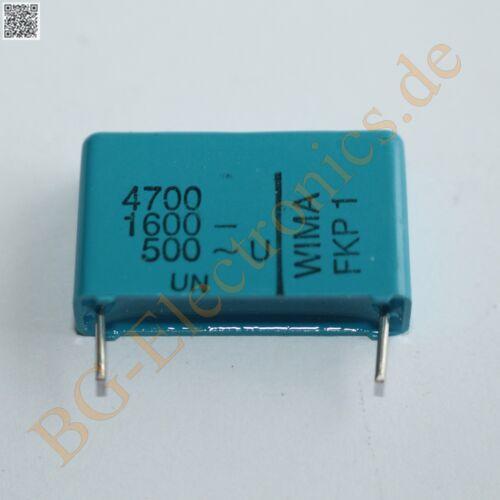 10 x 4700pf 4.700nf 1600v fkp-1 rm22 5 diapositivas condensador capaci Wima 10pcs