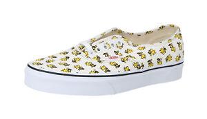 VANS-Peanuts-Authentic-Woodstock-Bone-Canvas-Lace-Up-Fashion-Sneakers-Men-Shoes