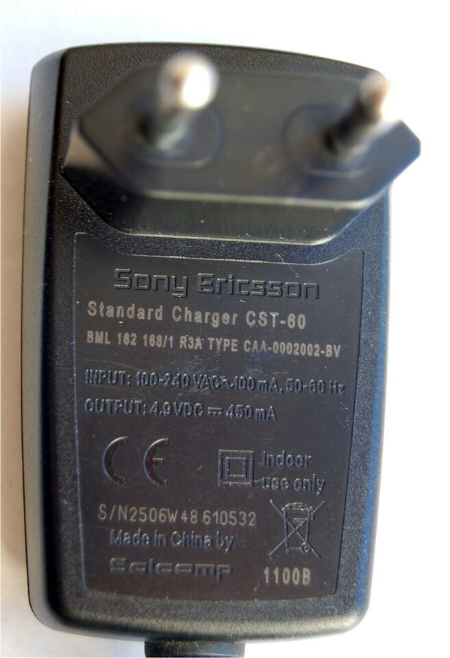 Oplader, t. Sony Ericsson, CST-60
