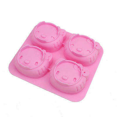 Silicone Kitty Mould Chocolate Cake Pan Soap Candy Mold Ice Mold Sugarcraft Tool