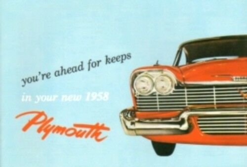 PLYMOUTH 1958 Owner/'s Manual 58