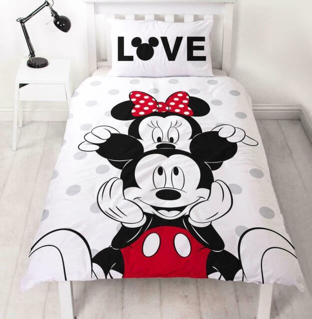 Copripiumino Topolino E Minnie Matrimoniale.Disney Mickey Minnie Oltre Reversibile Singolo Copripiumino