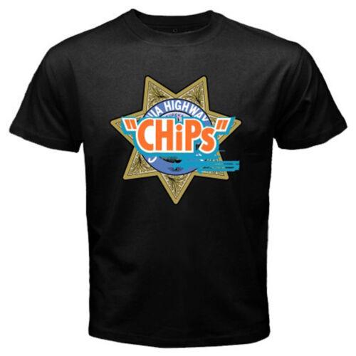 Chips Police Film California Highway Patrol Hommes T-shirt noir taille S à 3XL