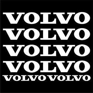 VOLVO-aufkleber-sticker-bagger-excavator-6-Stucke-Pieces