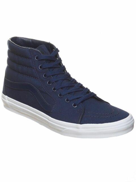 8f6fd29a3d02 VANS Mens 7.5 Womens 9 Sk8 Hi Mono Canvas Dress Blues Shoes SNEAKERS ...
