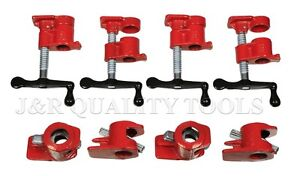 4 Pack 3 4 Wood Gluing Pipe Clamp Set Heavy Duty Pro Woodworking