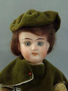 Rare-Antique-Gebruder-Knoch-all-original-Bisque-Doll-8-tall-Dollhouse