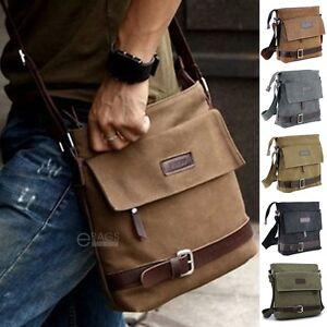 Mens-Canvas-Crossbody-Work-Military-Messenger-Buckle-Sling-Shoulder-Bag-Satchel