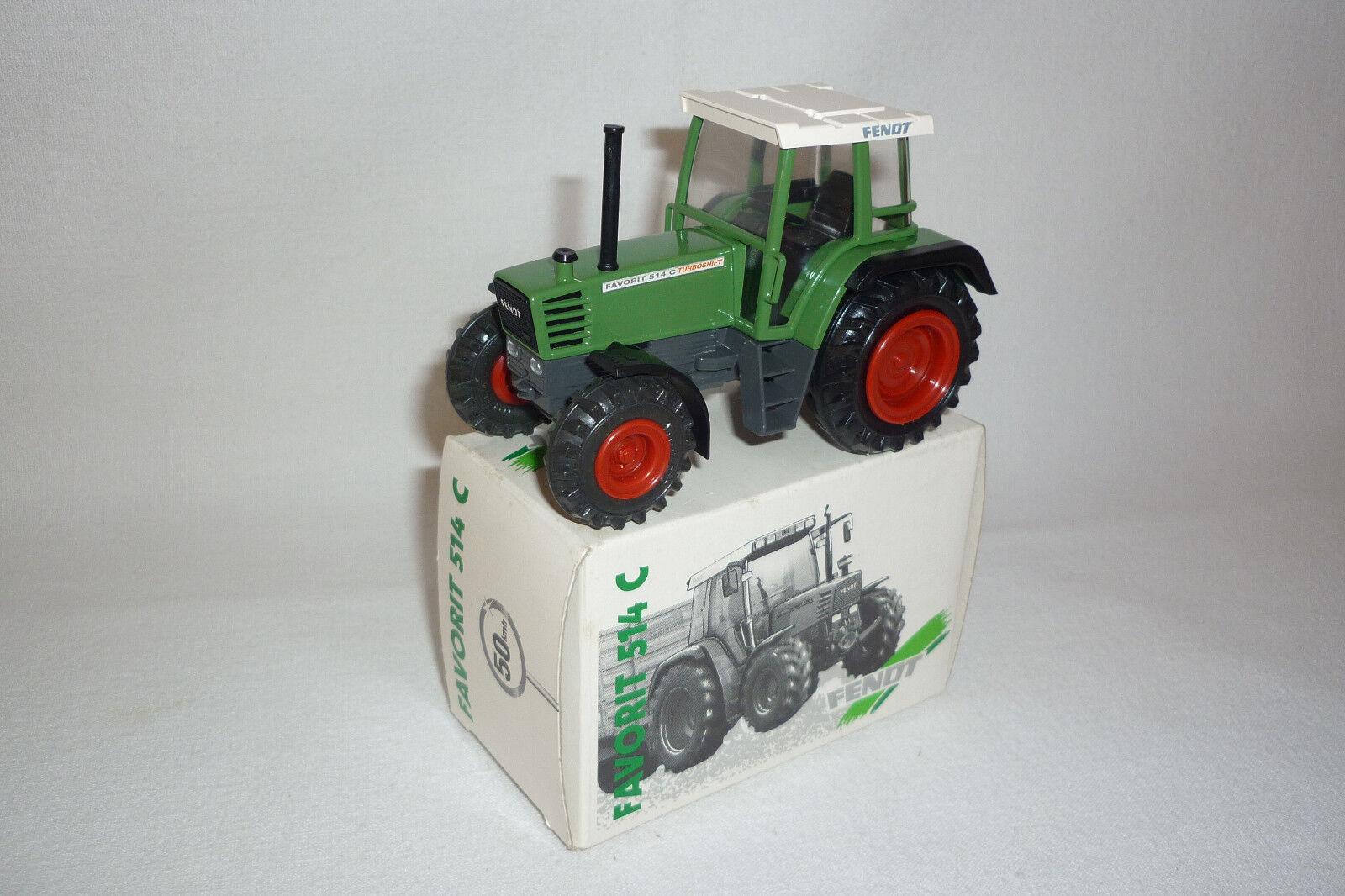 Curseur-Métal modèle - 792-Fendt Favori 514 C-tracteur-emballage d'origine (3.bm-11)