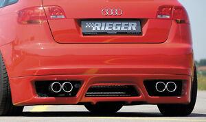 Rieger Heckansatz Audi A3 8p Sportback Inkl Fox Auspuff Neu