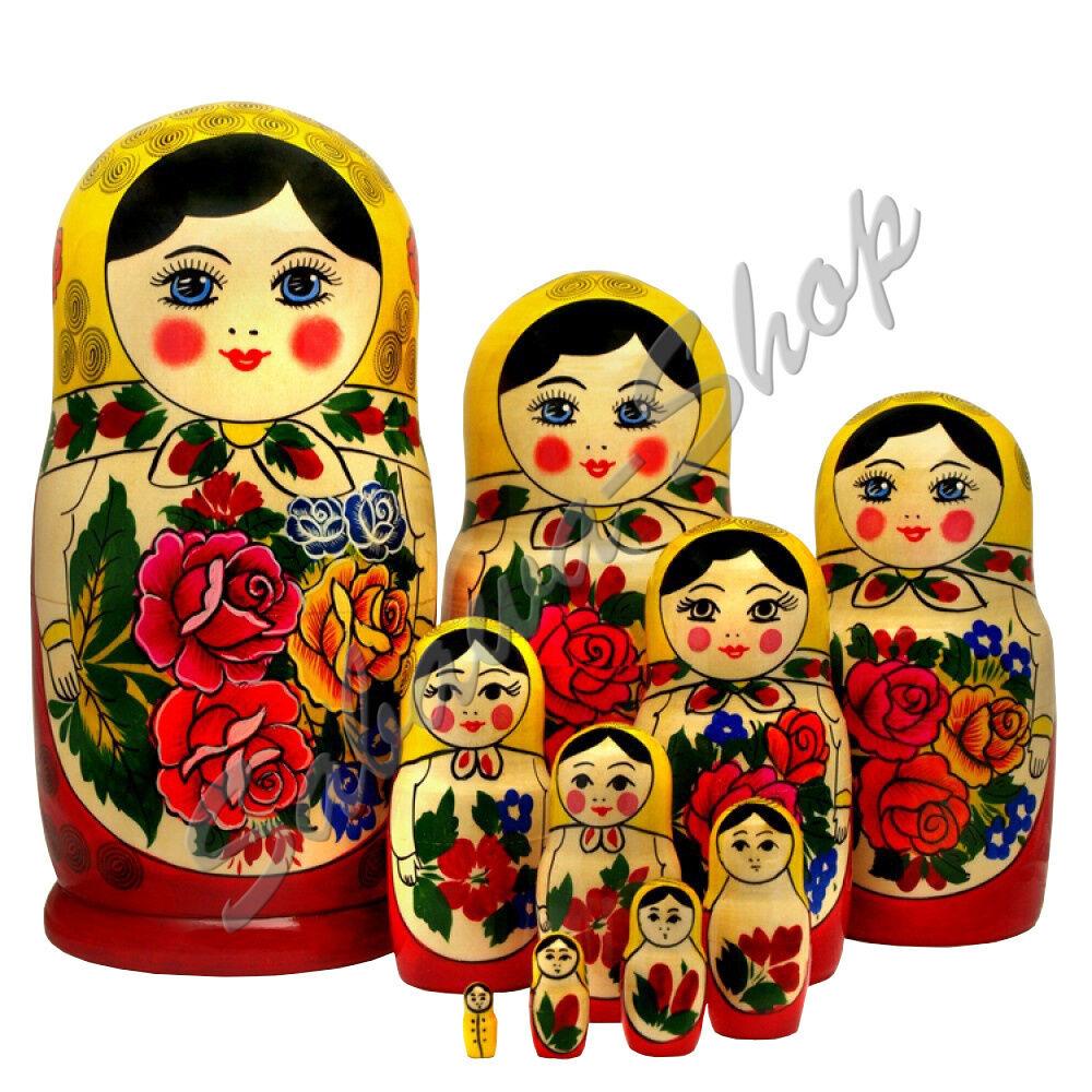 Matrjoschka Semenowskaja Matröschka Matroschka Babuschka Russische Puppe Präsent