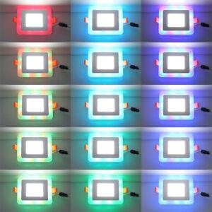 RGB-Lampada-LED-Da-Incasso-Pannello-Da-Soffitto-SMD2835-Faretto-Quadrato-5-16W