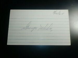 George-Uhle-Indians-Tigers-Yanees-SIGNED-AUTOGRAPH-AUTO-3x5-INDEX-CARD