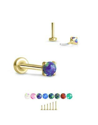 Post Length /& Gauge 316 Stainless Steel Threadless Push Pin Nose Ring Labret Monroe Ear Cartilage Stud Choose Your Color