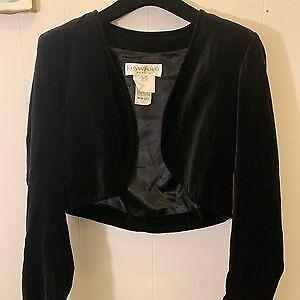 Vintage Yves Saint Laurent Velvet Bolero Jacket an