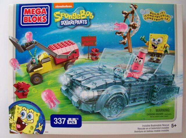 Mega Bloks SpongeBob Invisible Boatmobile Rescue CXM60