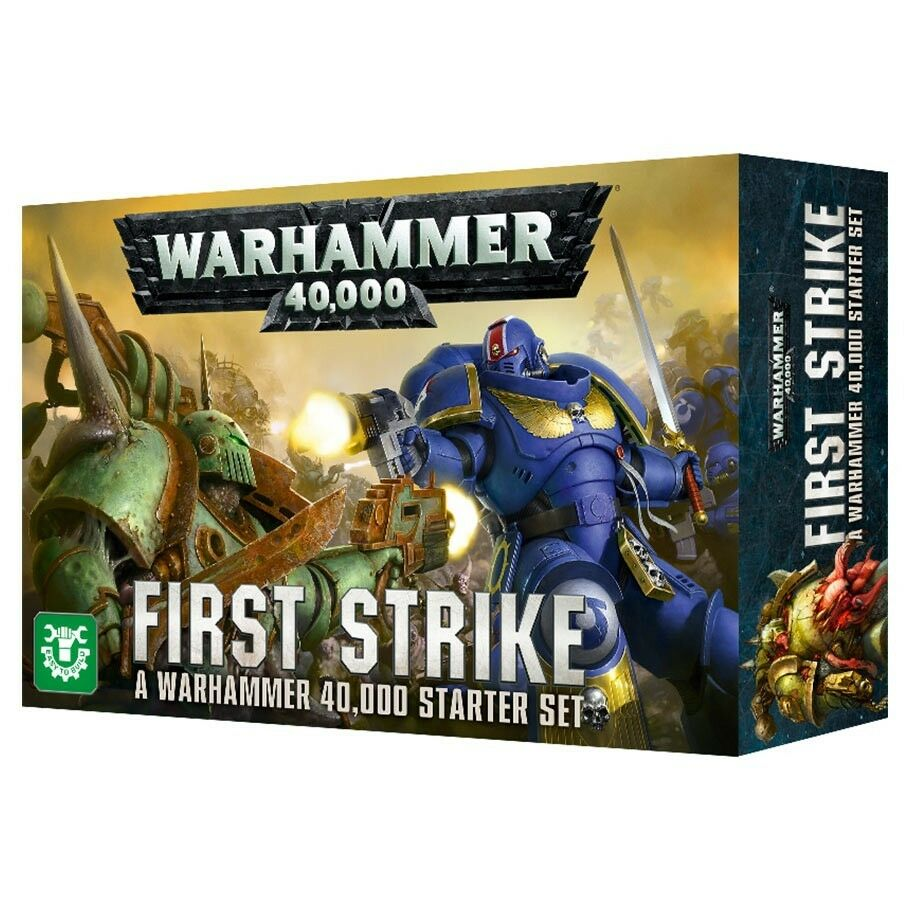WARHAMMER 40000 FIRST STRIKE STARTER SET Game with Space Marines & Death Guard