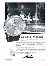 PUBLICITE ADVERTISING 054  1960  MIDO  montre  OCEAN STAR 2