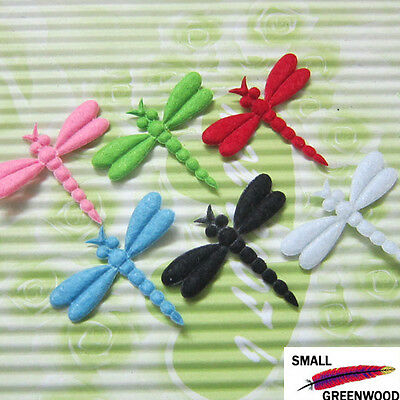 "(U Pick) Wholesale 60-300 Pcs. 1-1/8"" Padded Felt Dragonfly Appliques A0200"