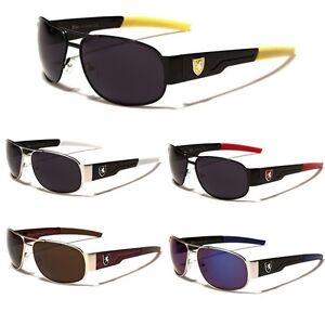 e80db33c1c Image is loading Khan-Small-Square-Aviator-Sunglasses-Men-Women-Wrap-