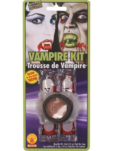 Robe fantaisie unisexe faux sang lueur dans l/'obscurité vampire Crocs Halloween kit nouveau