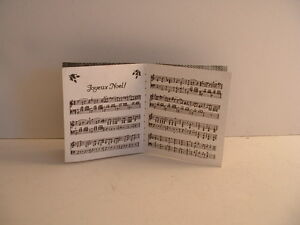 3124 Byers Choice Open Music Song Book ~Great with Music Director or Music Stand