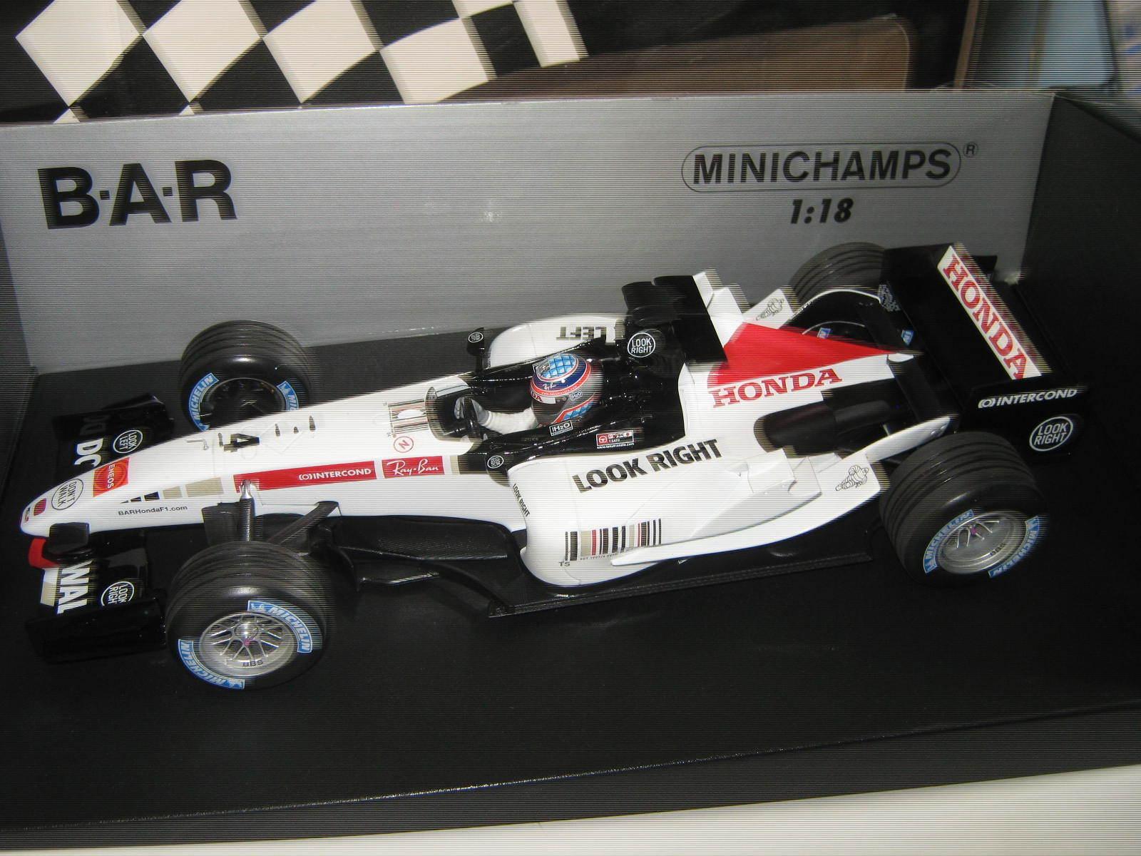 1 18 Bar Honda 007 2005 T Sato (JP) 100050004 MINICHAMPS neuf neuf dans sa boîte