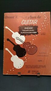 Harms 1958 Vincent Youmans Album Pour Guitare Partitions Livre Joe Fava T71-afficher Le Titre D'origine