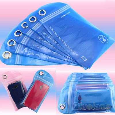 5Pcs Waterproof Bag Case Cover Swimming Beach Pouch For iPhone Mobile Cell Phone