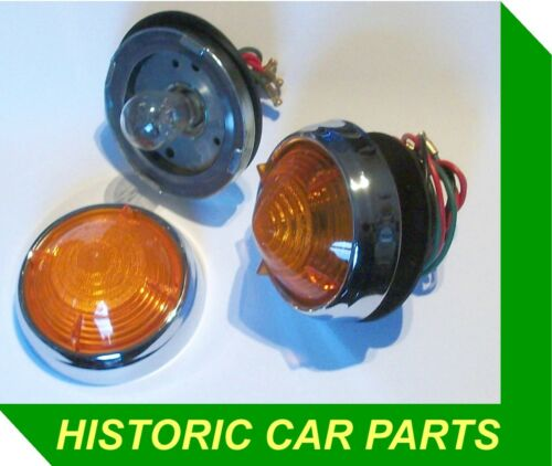 2 Amber Indicator Flasher Lights for DAIMLER Majestic 1959-60 replace Lucas L539