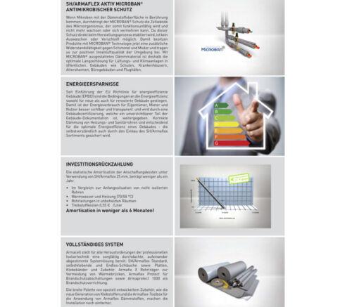Armaflex SH Isolierschlauch 22 mm x 25 m Kautschuk Rohrisolierung Heizung Endlos