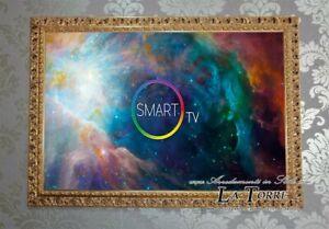 Cornice Televisore Smart Tv Traforata Stile Barocco Legno Foglia Oro 313 Gold Ebay