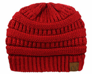 eb8f0c7e0af Bubble Knit Slouchy CC Baggy Beanie Oversize Winter Hat Ski Cap Skull Women  US