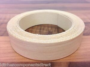 Pre-Glued Iron On! 5m x 22mm Ivory Gloss Edging Tape
