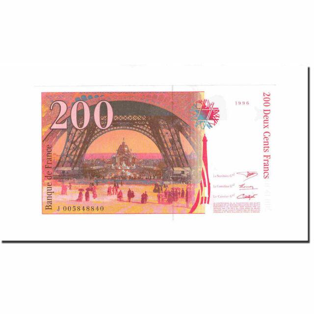 [#640821] France, 200 Francs, Eiffel, 1996, UNC(63), Fayette:75.02, KM:159a