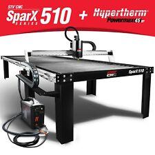 Stv Cnc 5x10 Plasma Cutting Table With Hypertherm Powermax45 Xp Machine