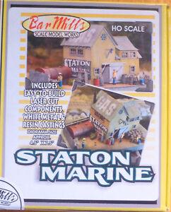 Laser Cut Kit MODELRRSUPPLY BAR MILLS 402 HO scale Staton Marine