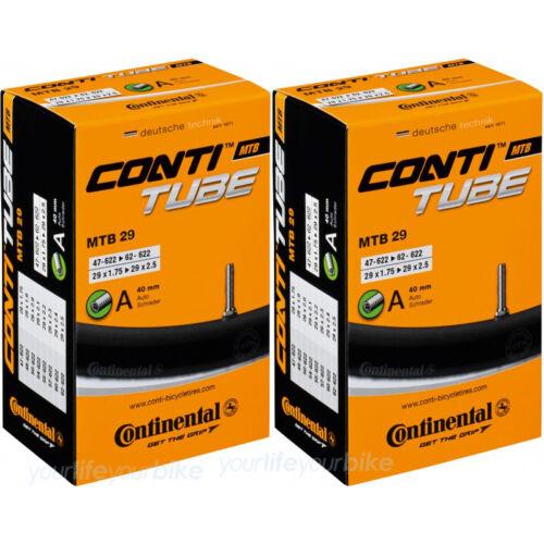 "Continental MTB 29 Tuyau 1.75-2.5/"" AV vélo 47//62-622 29/"" All Mountain Bike"