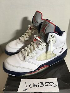 6e804657991 Nike Air Jordan 5 V Independence Day Olympic 136027-103 Sz 9.5