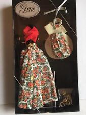 Gene Doll Outfit CRIMSON SUN Ashton Drake Orange Flowered dress Sun Hat COA