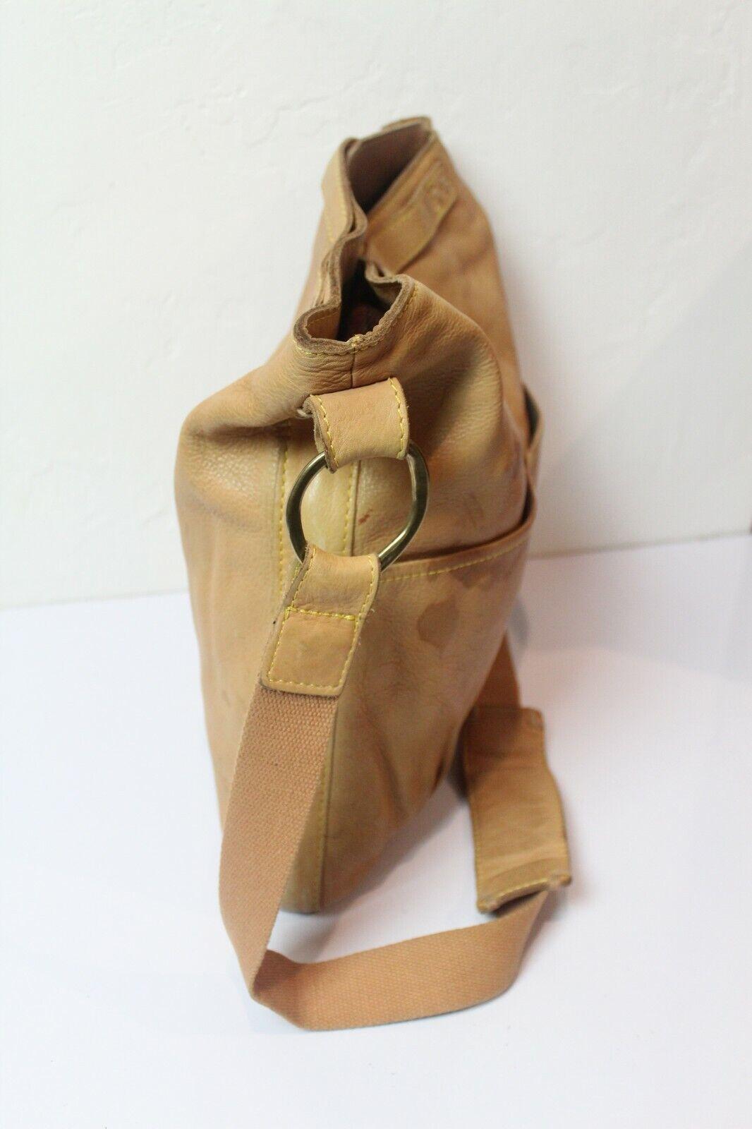 49 Square Miles Tan Leather Bag Hobo Large Bag - image 6