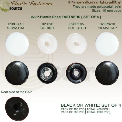 Sujetadores plásticos Popper Snap 10 mm Clips Maniquí ropa botones para tapicería