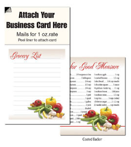 Grocery list magnetic business card notepads note scracth pads image is loading grocery list magnetic business card notepads note scracth colourmoves