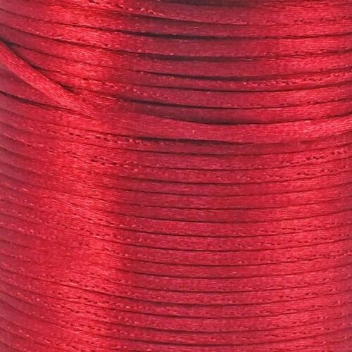 Rattail Satin Cord Thread 1.5mm For Kumihimo Macrame Shamballa 5 Metre Packs