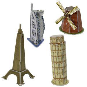 Mini Bausatz 3D Puzzle 4-7 Teile Miniatur Modelle zum stecken