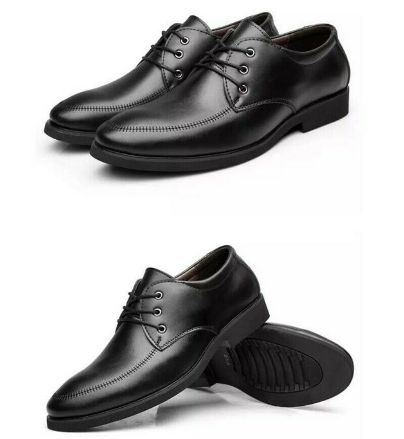 British Style Mens Pointy Toe Lace Up Business Dress Formal shoes Oxfords Size